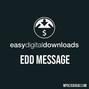 Easy Digital Downloads EDD Message