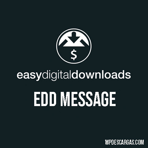 Easy Digital Downloads EDD Message
