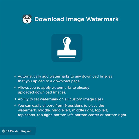 EDD Download Image Watermark