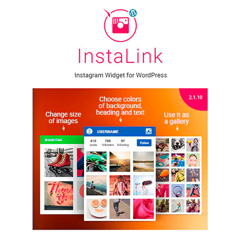 InstaLink - WordPress Instagram Widget