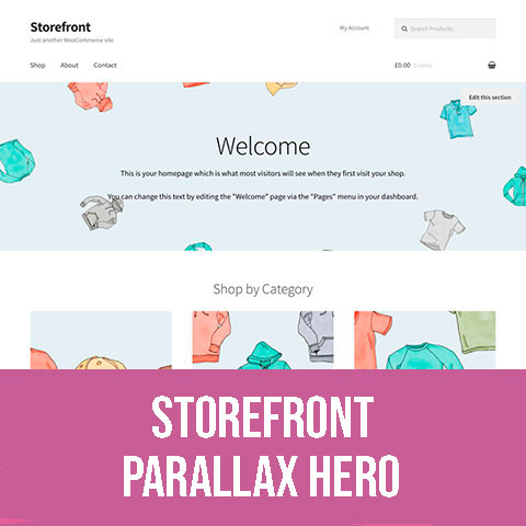 Storefront Parallax Hero