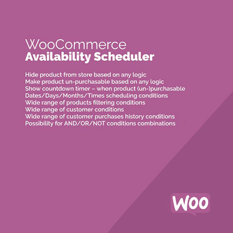 WooCommerce Availability Scheduler